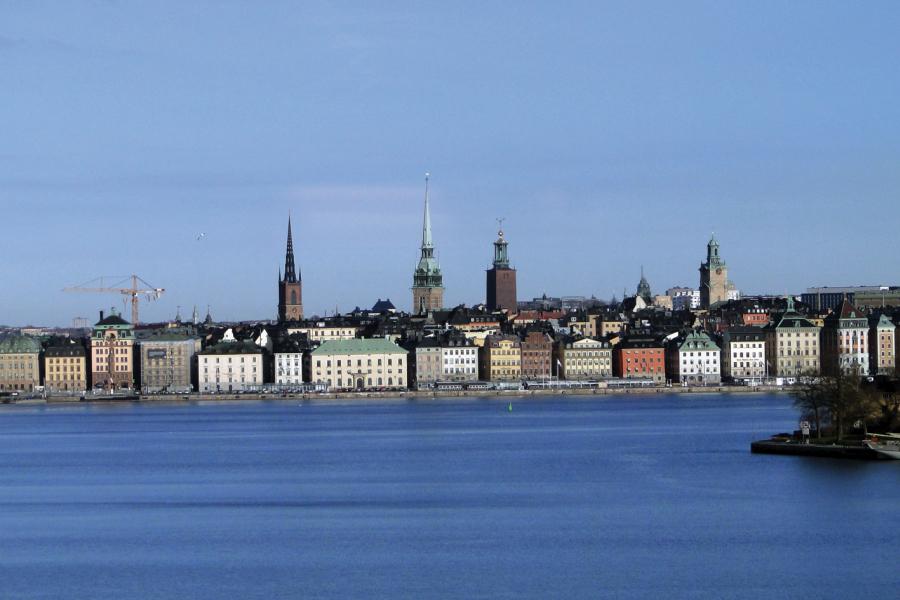 Einfahrt nach Stockholm