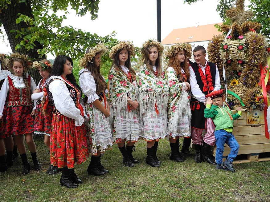 Erntedankfest in Sandomierz an der Weichsel