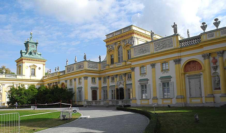 Sommerpalast von König Jan III. Sobieski in Wilanów aus dem 17. Jahrhundert